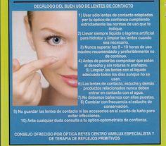 Decálogo de uso de lentes de contacto