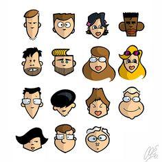 Caricaturas do pessoal da Raph Comunicações (Limeira /SP).