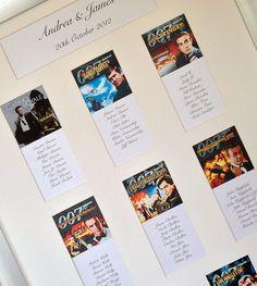007 themed wedding table plan - A Little bit of James Bond!