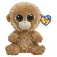 "Ty Beanie Boos 6"" Tangerine Orangutan Monkey Plush Stuffed Animal Toy"