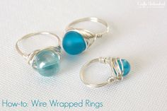 Wire Rings Tutorial: How To Make Wire Wrapped Bead Rings
