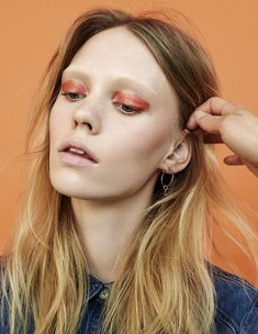 Charlotte Nolting for Material Girl Magazine, makeup Anna Neugebauer