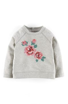 Free shipping and returns on Mini Boden 'Cosy' Appliqué Sweatshirt (Baby) at Nordstrom.com. A cross-stitched motif is both nostalgic and utterly charming on this raglan-sleeve sweatshirt.