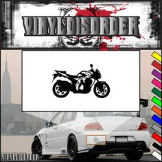 Motorcycle Wall Decal - Vinyl Decal - Car Decal - CD70