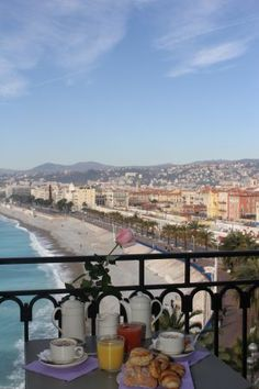 A great hotel with a fantastic view. Great price and wonderful breakfast.  Hotel Suisse Nice .....in Nice France.