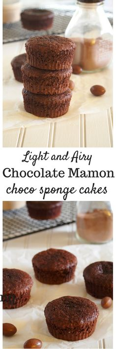 Light and airy chocolate mamon are sponge cakes that has just the right intensity of chocolate flavor.
