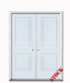 9 Lite Half Clear Glass Steel Exterior Double Door 6 8 Darpet Interior Doors For Chicago
