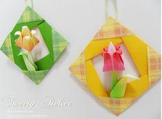 Quadrinho com tulipa em origami | Pra Gente Miúda