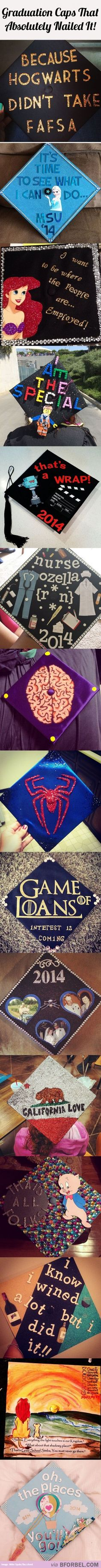 15 Awesome Graduation Caps That Just Nail The Graduation Spirit...