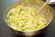 Wasabi Cole Slaw. Make it for seared tuna tacos. Trader Joe's Wasabi Mayo is a must, and, is AMAZING!!!