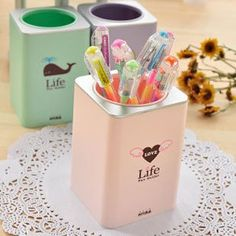 Best selling Storage Bag,brush pot,Wholesale Free shipping Kawaii Bag, Korean design storage box-in Stationery Holder from Office  School Supplies on Aliexpress.com $23.10