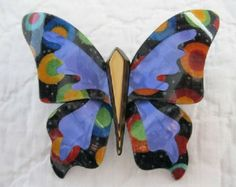 Large Butterfly Pin By  Lea Stein