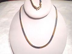 womens/mens 2 tone 5mm 24in foxtail chain necklace 14k white/yellow gold plated #Unbranded #Chain