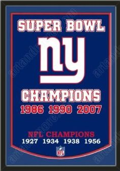 Dynasty Banner Of New York Giants With Team Color Double Matting-Framed  Awesome   Beautiful-Must For A Championship Team Fan! Most NFL Team Dynasty  Banners ... 74154036d