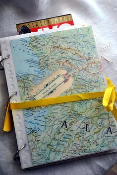 DIY travel journal.  I really like the idea behind it. I would do different pages though. #craft #DIY #journal #travel