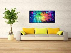 Schilderij Bridge to Nowhere van Ines - Kunstvoorjou. Outdoor Sofa, Outdoor Furniture, Outdoor Decor, Contemporary Art, Couch, Texture, Canvas, Artwork, Painting