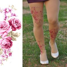 Romantic Vintage Roses Trending Items ROSES Tights by TightsShop