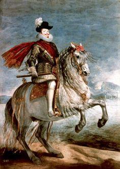 Felipe III a caballo, cuadro de Diego Velázquez #Historia