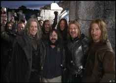 Denethor, Peter Jackson, Boromir, and Faramir. One happy family (Although it's strange to see Denethor smile).