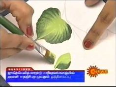 Decorative Painting - One Stroke Technique - Step by Step with Paula Mendes - YouTube