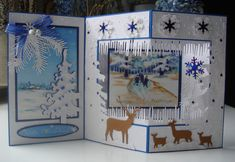 Deers in a Winter Wonderland by niki1 - Cards and Paper Crafts at Splitcoaststampers