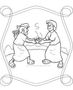 9. Jacob & Esau- Worksheets and Coloring Pages | HIStory | Pinterest ...
