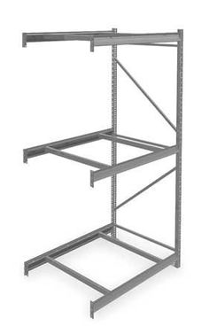 TENNSCO 6940 Rack,Bulk Storage by Tennsco. $137.97. Bulk Storage Rack, Add On, Width 48 In., Depth 36 In., Height 96 In., Beam Capacity 4150 lb., No Decking, 3 Levels, Shelf Levels Adjust in 2 In. Increments, Medium Gray, Powder Coat Finish, For Use With Heavy Duty Bulk Storage Rack, Includes (6) Beams, Front to Back Supports and Frame