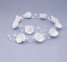 Hair vine rhinestone Crystal hair vine white by FloralHeadpiece