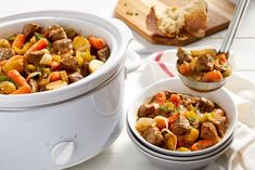 Slow cooker beef stew recipe cook with campbells canada Slow Cooker Beef, Slow Cooker Recipes, Cooking Recipes, Slow Cooking, Crockpot Dishes, Healthy Crockpot Recipes, Cambells Recipes, Dinner Entrees, Healthy Eating