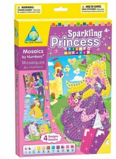 Sticky Mosaics - Sparkling Princess by The Orb Factory. $9.99. 11.9 x 7.9 x 1.4 inches. Take a splash in the royal fountain! Add gems and glitter to make these picture really shine!