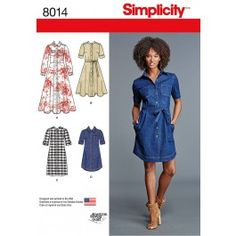 New Look 6298 Misses' Knit Dress with Neckline & Length Variations Sewing Pattern