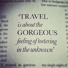 This quote actually makes me want to cry tears of happiness. This is what I crave. I crave the feeling of the unknown. It's my favorite thing in the world. <3