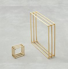 """SQUARE RING & BRACELET IN 14K GOLD. Priced at $1200, Save $240.00 if ordered by 8/30. Items can be purchased separately. 9.5"""" bracelet; 0.57 oz. 3"""" ring (size 6.5-7) 0.09 oz. Cost of ring orig. $350. Cost of Bracelet orig. $850 FREE POSTAGE WITHIN THE US. BUYER PAYS POSTAGE FOR INTERNATIONAL & EXPEDITED WORLDWIDE."""