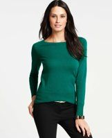 Boatneck Cashmere Sweater - Rendered in indulgent cashmere, we've updated this jewel toned wardrobe must-have with pointelle detailing for an extra refined touch. Boatneck. Long sleeves. Ribbed neckline, cuffs and hem.
