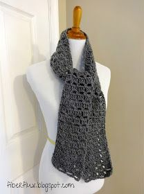 The Everybody Scarf _ easy crochet. This scarf was designed with everybody in mind...it has just enough texture to hold its own with solid yarn, but isn't too busy to handle a variegated yarn too.  It is nice and neutral for either gender and can be crocheted in any length for any age.  It also works up quickly, making it a great scarf for yourself, a fabulous gift, or for charity (or all three!)