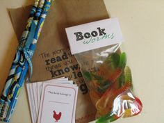 book worms for a book party or for teacher appreciation week little gift for all the teachers.thanks for turning our kids into book worms :)! Swap Party, I Party, Party Time, Party Ideas, Nerd Party, Gift Ideas, Party Bags, Xmas Ideas, Fun Ideas