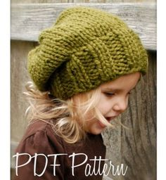 Because what tot doesn't need an oversized slouchy beanie?!  Knitting PATTERN-The Sydnie Slouchy (Toddler, Child and Adult sizes)