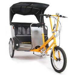 Modern pedicab .ids school groceries exercise all in one!!! The perfect solution hehehe