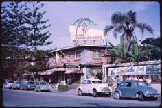 The Beachcomber & Jolly Roger Nite Club, Surfer's Paradise - 1963 Photo credit T. Gold Coast Queensland, Brisbane Gold Coast, Gold Coast Australia, Brisbane City, Queensland Australia, Melbourne, Old Pictures, Old Photos, Great Places