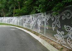 Lace Fence | «Кружевной» забор. Вот что происходит, когда мужчина берется за рукоделие!
