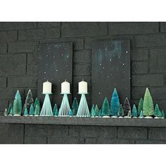 Bottle brush trees are a simple way to add BIG impact to your holiday decor. Tanya from shows us how to incorporate hues of blues into your home this season for a vintage inspired forest mantel! Check out the story on page 35 of Christmas Crafts For Gifts, Christmas Decorations, Holiday Decor, Christmas Recipes, Holiday Ideas, Glitter Houses, Bottle Brush Trees, Craft Night, Vintage Holiday