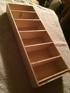Wooden Bookshelf  1:6 playscale scale  for Barbie by imginger2012