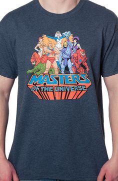 Masters of the Universe Group T-Shirt: He-Man, She-Ra