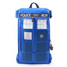 Doctor Who PU Printed Anime Dr Who Tardis buckle slouch Children School bag mochila feminina Public Call Police Box Backpack