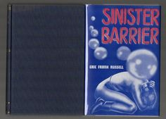 1948 First Trade edition of Sinister Barrier by Eric Frank Russell Fantasy Press