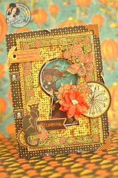 This Steampunk Spells card by Maiko has put a spell on us! Love it! #graphic45 #cards
