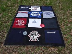 Custom Queen Size Tshirt Memory Quilt made by sunshineofautumn