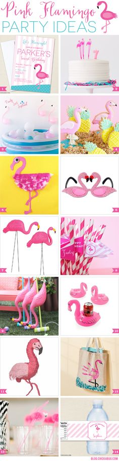 Flamingo party ideas. Tons of cute ideas for a flamingo birthday party!!
