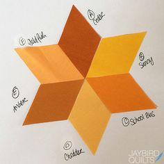 Gravity Quilt Block Colors - Block 8 Eclipse | Jaybird Quilts