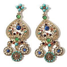 R.J. Graziano Multi-Stone Dangle Earrings at HSN.com.